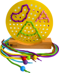 Qtoys Circle Lacing Mat on Stand