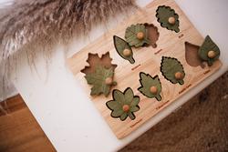 Qtoys Montessori Leaf Puzzle