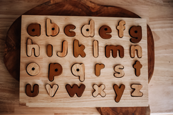 Qtoys Natural Lowercase Puzzle