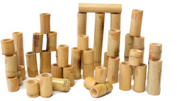 Qtoys Bamboo Counting and Building Set 40PCE