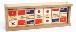 Qtoys Asia Pacific Flags Dominoes