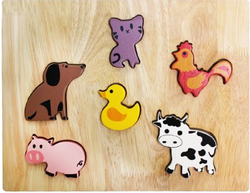 Qtoys Farm Animal Play Set & Puzzle