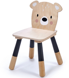 tenderleaf forest bear wooden chair