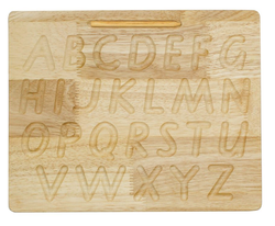 qtoys wooden alphabet tracing board