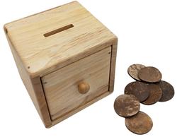 montessori coin slot post box toy