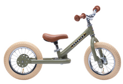 Trybike Green Vintage Trybike, Cream Tyres and Chrome (3 wheel)