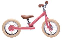 Trybike Pink Vintage Trybike, Cream Tyres and Chrome (3 wheel)