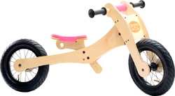 Trybike 4 in 1 Wooden Bike Pink Saddle Seat Cover & Chin Protector