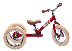 Red Vintage Trybike, Cream Tyres and Chrome (3 wheel)