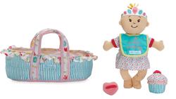 Wee Baby Stella Birthday Doll & Bassinet Set