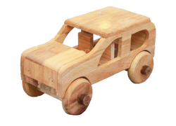 Qtoys Natural Wooden Car