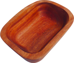 Qtoys Rectangular Wooden Bowl