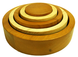 Qtoys 2 Tone Stacking and Nesting Bowls