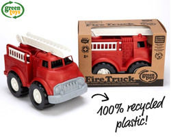 Green Toys Fire Truck w/ Extending Ladder Recycled Plastic- Red