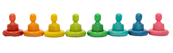 Qtoys Rainbow People Cups and rings