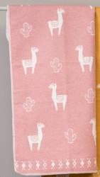 David Fussenegger Rouge Llamas Allover Juwel Bassinet Blanket hanging