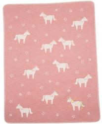 David Fussenegger Rouge Unicorns Juwel Bassinet Blanket