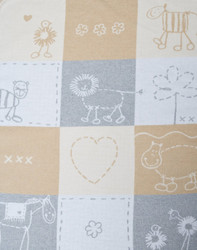 David Fussenegger Ecru Love Patch Juwel Bassinet Blanket