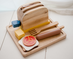 Qtoys Wooden Breakfast Set