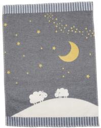 Grey Moon Over Sheep Finn Bassinet Blanket