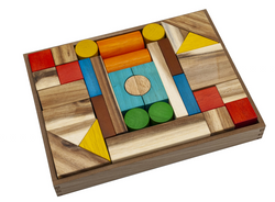 Qtoys Natural color wooden blocks