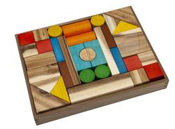Qtoys Natural color wooden blocks