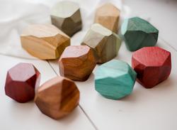 Qtoys Coloured Wooden Gems