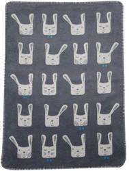 David Fussenegger Grey Bunny Ears Mila Bassinet Blanket