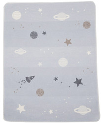 David Fussenegger Light Blue Planets Juwel Bassinet Blanket