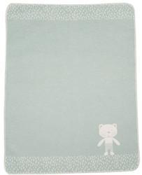 David Fussenegger Light Green Teddy Bear Juwel Bassinet Blanket