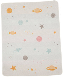 David Fussenegger Light Grey Planets Juwel Bassinet Blanket