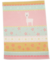 David Fussenegger Mint Llama Lili Bassinet Blanket
