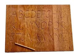 wooden alphabet board
