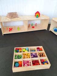 large wooden sorting tray