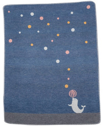 David Fussenegger Blue Seal With Ball Juwel Bassinet Blanket