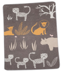 David Fussenegger Brown Jungle Juwel Bassinet Blanket