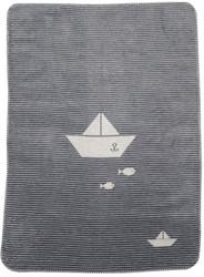 David Fussenegger Grey Sailboat Panda Bassinet Blanket