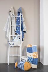 Grey Sailboats Juwel Hooded Blanket