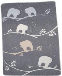David Fussenegger Grey Sloths Juwel Bassinet Blanket