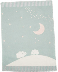 David Fussenegger Light Green Moon Over Sheep Finn Bassinet Blanket