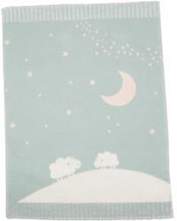 David Fussenegger Light Green Moon Over Sheep Finn Bassinet Blanket