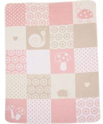 David Fussenegger Blush Pink Patch Girl Juwel Bassinet Blanket