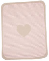 David Fussenegger Blush Pink Heart & Stripes Juwel Bassinet Blanket