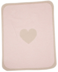 David Fussenegger Blush Pink Heart & Stripes Juwel Bassinet Blanket
