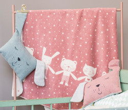 David Fussenegger Rouge Teddy & Friends Maja Cot Blanket