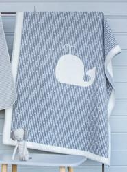 Grey Whale Finn Cot Blanket