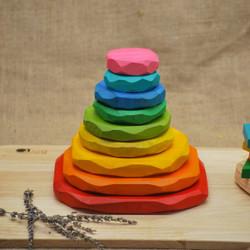 Qtoys Coloured Stacking Stones