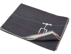 David Fussenegger Charcoal Cable Car blanket