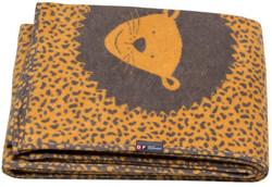 Gold Lion Velvet Junior Single Blanket 135 X 200cm