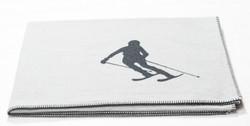 Light Grey Skier Sylt Throw